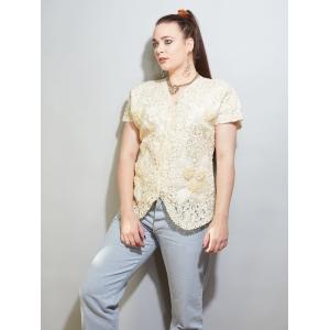 Vintage blouse met luxe bloemen patroon (MT M/L)