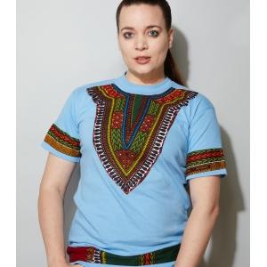 Vintage t-shirt met kleurrijke opdruk (MT M/L)