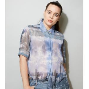 Vintage blouse licht doorschijnend van Nadine H. (MT M/L)
