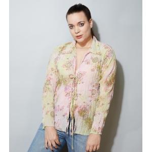 Vintage blouse met plooien van Occo Paris (MT M/L)