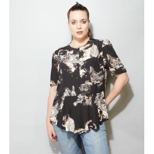 Vintage blouse met subtiele peplum (MT L/XL)