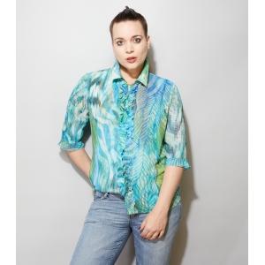 Vintage blouse met roesels (MT M/L)