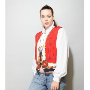 Vintage blouse 2-laags met luxe knopen (MT M/L)