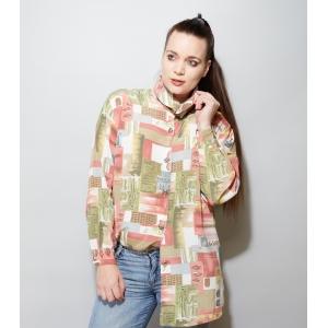 Vintage blouse met Egyptisch thema (MT M/L)