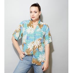 Vintage blouse met speelse print (MT M/L)