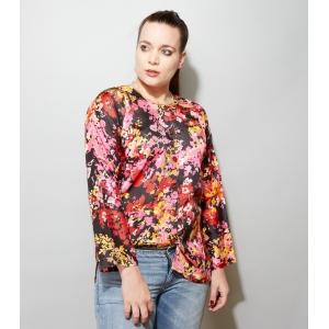 Vintage blouse met gestileerde bloemen (MT M/L)