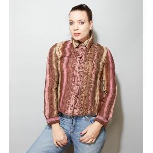 3Vintage blouse met speelse verticale strepen (MT M)