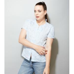 Vintage blouse met doorzichtig patroon (MT M/L)