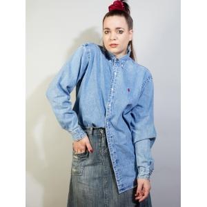 Vintage denim blouse van Ralph Lauren (MT L)