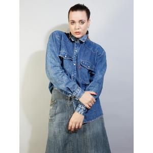 Vintage Levi's denim - spijker blouse (MT M/L)