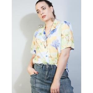 Vintage blouse met bloemenprint (MT L/XL)