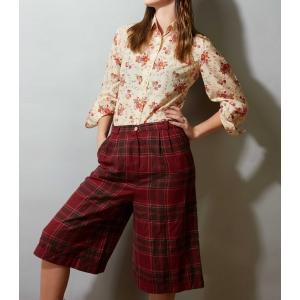 Vintage short - korte pantalon met ruitpatroon (MT M)