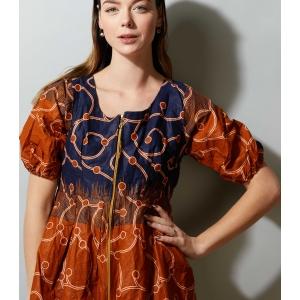 Vintage blouse - jasje met rits Batik (MT S/M)