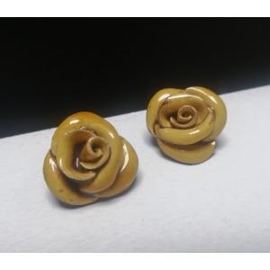Vintage oorclips 'roosjes'