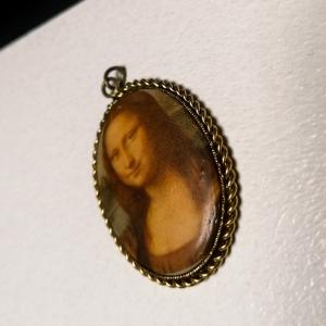 Vintage hanger met de Mona Lisa